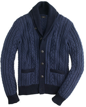 J.Crew Colorblock Cotton Shawl Cardigan