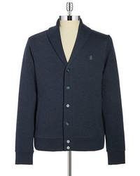 Original Penguin Cotton Button Front Cardigan