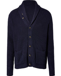 Ralph Lauren Blue Label Cotton Shawl Cardigan In Hunter Navy