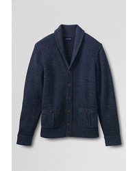 Lands' End Cotton Slub Rib Shawl Cardigan