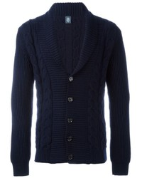 Eleventy Cable Knit Cardigan