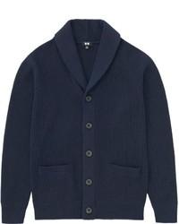 Heavy Gauge Shawl Collar Cardigan