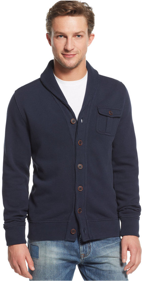 Tommy Hilfiger Kevin Shawl Collar Cardigan Sweater Euro | Where to ...