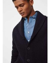 Mango Man Shawl Collar Cotton Cardigan