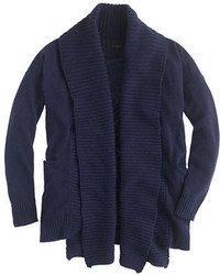 J.Crew Open Shawl Collar Cardigan Sweater