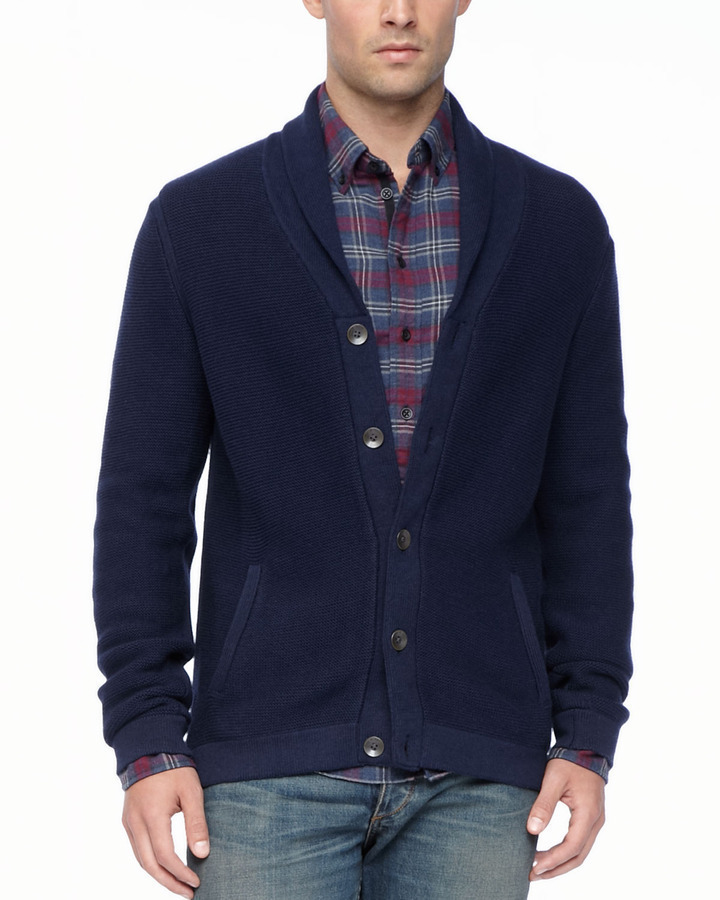 Rag and Bone Rag Bone Donaghy Shawl Cardigan Navy