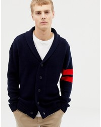 New Look Shawl Cardigan With Collegiate Detail In Navy