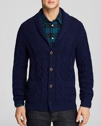 Paul Smith Shawl Collar Cable Knit Cardigan