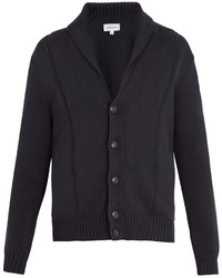 Brioni Shawl Collar Cotton And Silk Blend Cardigan