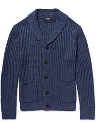 Shawl collar linen cardigan medium 4110358