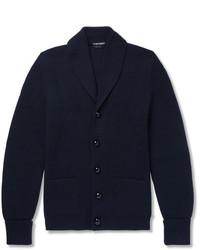 Tom Ford Shawl Collar Ribbed Wool Cardigan