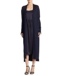 DKNY Silk Blend Open Front Cardigan