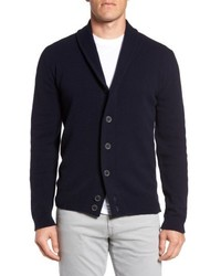 Slim fit merino wool cashmere cardigan medium 5253974