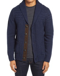 Schott NYC Wool Blend Cardigan Sweater