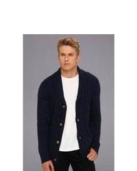 Zanerobe Speckled Sloan Cardigan Sweater Navy