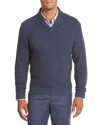 Nordstrom Cotton Blend Shawl Collar Sweater