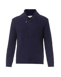 Gieves Hawkes Shawl Neck Wool Sweater