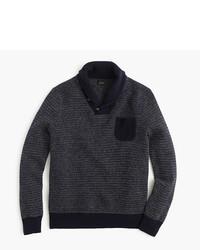 J.Crew Lambswool Jacquard Shawl Collar Sweater