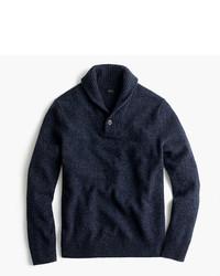 J.Crew Marled Lambswool Shawl Collar Sweater