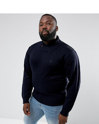 French Connection Plus Shawl Collar Jumper