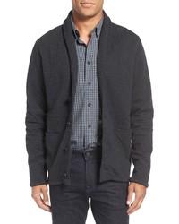 Quilted shawl collar sweater medium 801067