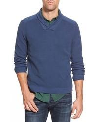 Eddie Bauer River Rock Ilaria Urbinati Collection Trim Fit Shawl Collar Pullover Sweater