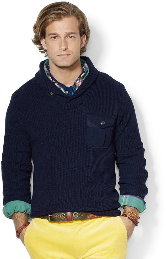 Polo Ralph Lauren Shawl Pullover Sweater | Where to buy & how to wear