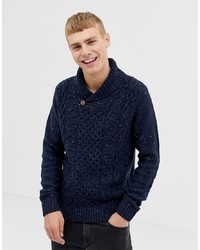 Pier One Wool Blend Jumper In Blue With Collar