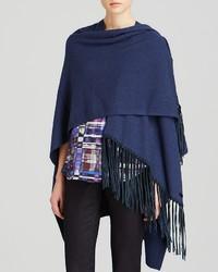 Armani Collezioni Shawl Knit Fringe