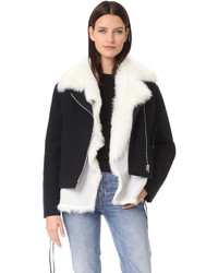 Bells jacket with removable fur vest medium 5375597