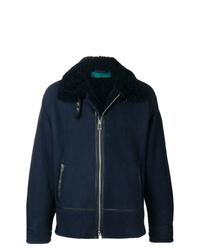 Paura Front Zip Shearling Jacket