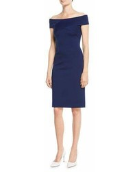 Ralph Lauren Collection Austine Off The Shoulder Sheath Knee Length Dress