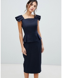 690d1b7087fc2c Ted Baker Rivaadd Pleated Shoulder Peplum Dress