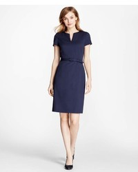 Brooks Brothers Stretch Wool Sheath Dress