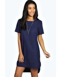 Women's Navy Shift Dresses by Boohoo | Women's Fashion