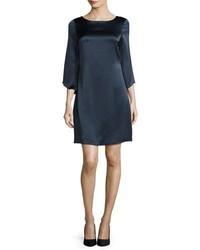Diane von Furstenberg Korrey Satin Shift Dress Deep Night