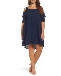 Glamorous Plus Size Cold Shoulder Shift Dress