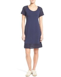 Tommy Bahama Tambour Eyelet Sleeve Shift Dress