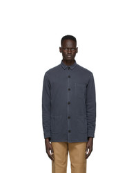 Schnaydermans Black Gart Dyed Over Shirt