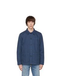 Nudie Jeans Blue Barney Worker Jacket