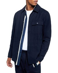 Topman Blue Button Up Overshirt