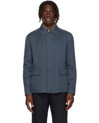 Loro Piana Blue Cashmere Horsey Jacket