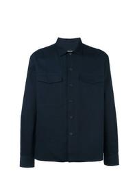 AMI Alexandre Mattiussi Camp Collar Overshirt Blue