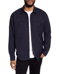 Vince Classic Fit Solid Twill Shirt Jacket