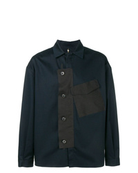 Oamc Contrast Placket Shirt Jacket