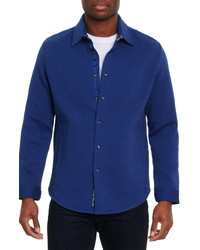 Robert Graham Elbridge Solid Twill Stretch Shirt Jacket