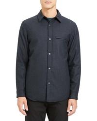 Theory Kian Regular Fit Wool Shirt Jacket