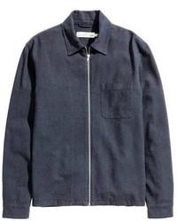 H&M Linen Blend Shirt Jacket