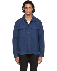 Nudie Jeans Navy Canvas Colin Overshirt