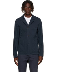Ps By Paul Smith Navy Convertible Collar Jacket